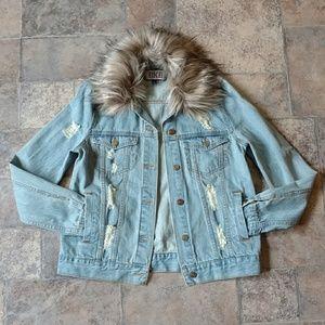 BKE Jackets & Coats - BKE destroyed denim jacket